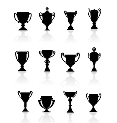 Set of sports trophies vector