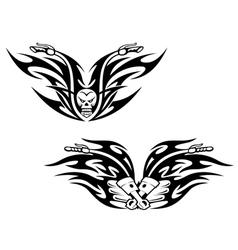 Black bikes tattoos vector