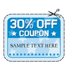 Coupon sale thirty percent discount vector