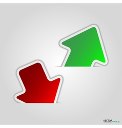 Green and red arrow vector