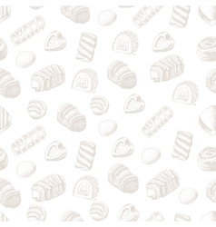 Seamless background with chocolates for vector