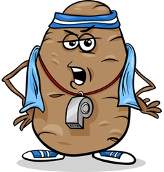 Couch potato saying humor cartoon vector