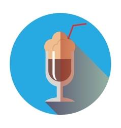 Retro coffee latte icon vector