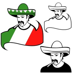 Mexican man vector