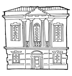House in classical style vector