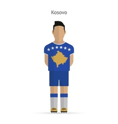 Kosovo football player soccer uniform vector