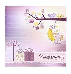 Baby shower announcement vector