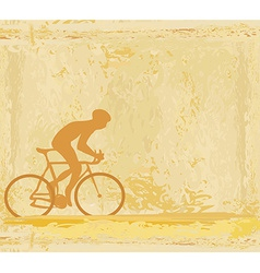 Cycling man silhouette grunge poster template vector
