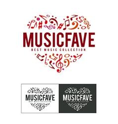 Music fave logo vector