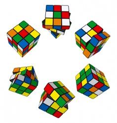 Rubik's cube puzzle vector