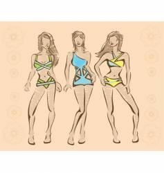 Beachwear vector