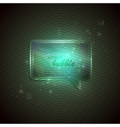 Abstract green background with glass transparent vector