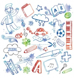 Set of doodles vector