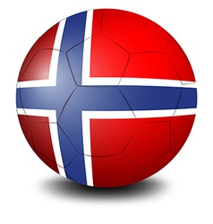 A soccer ball with the flag of norway vector