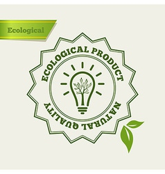 Natural quality stamp vector