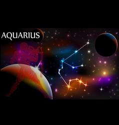 Astrology sign aquarius vector