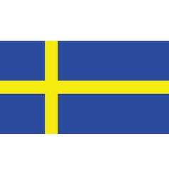 Swedish flag vector