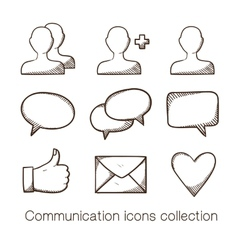 Communication icons collection vector