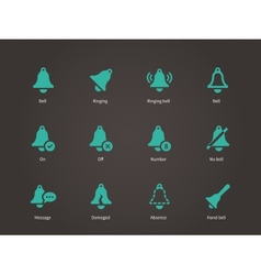 Ringing bell icons vector