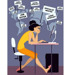 Internet job search vector