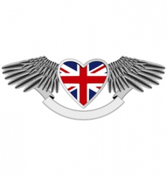 Union jack wings vector