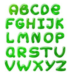 Green blots alphabet vector