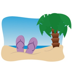 On beach vector
