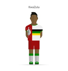 Kwazulu football player soccer uniform vector