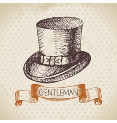 Sketch gentlemen accessory vector