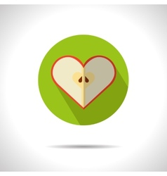 Apple heart icon vector