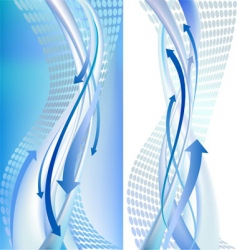 2 abstract backgrounds with arrows vector