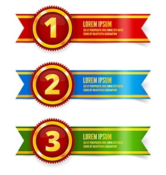 Golden with red medals vector