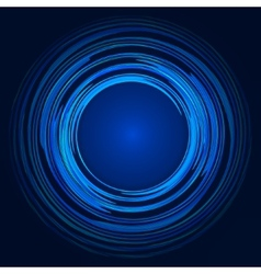 Abstract blue green and yellow swirl circle vector