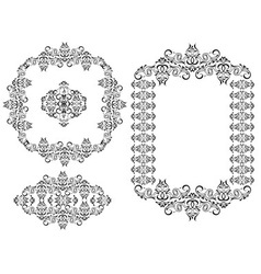 Frames and vignettes vector