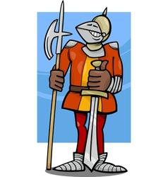 Knight in armor cartoon vector
