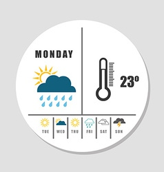Weather concept vector