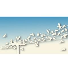 Bird roost cutout vector