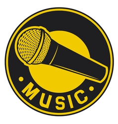 Classic microphone symbol vector
