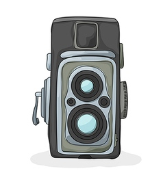 Vintage camera cartoon vector