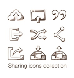 Sharing icons collection vector