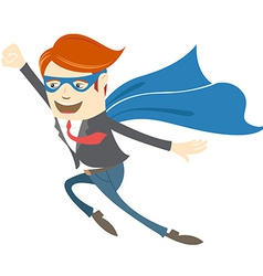 Office superman flying vector