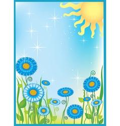 Summer field of flowers vector