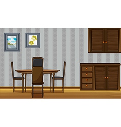 Wooden furniture in a home vector