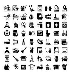 Big cleaning icons set vector