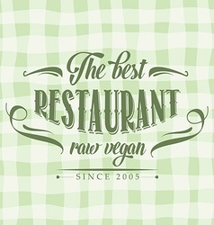 Retro raw vegan restaurant poster vector