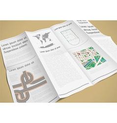 Folded paper booklet vector
