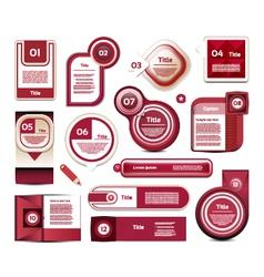 Modern infographics options banner vector