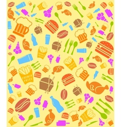 Colorful fast food bakground vector