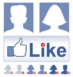 Set social media facebook concept vector