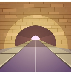 Tunnel road vector